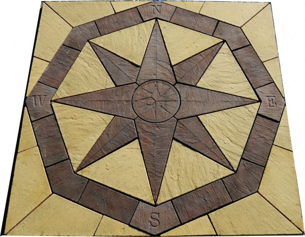 2400mm Octagonal Compass Kit Slate Grey and Buff